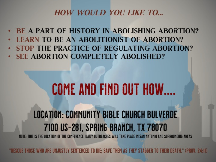Abolish Abortion Conference and Mission March 2020 Flyer Front and Back  copy