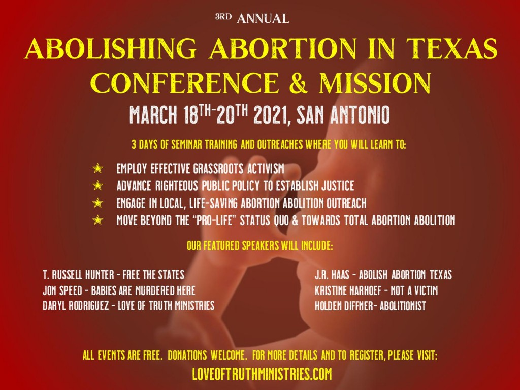 SUPER FINAL FRONT Abolish Abortion Conference and Mission March 2020 Flyer Front  copy 2-page-001